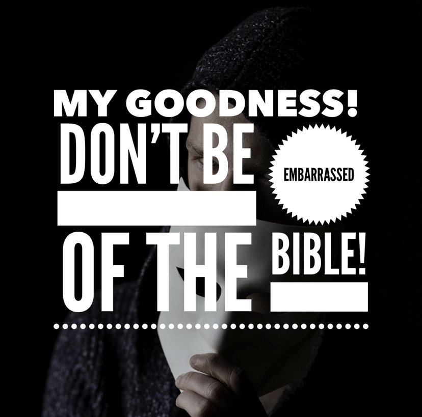 My Goodness! Don't Be Embarrassed of The Bible!