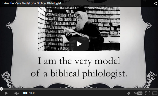 Biblical philologist video funny