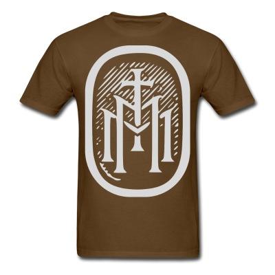 the majestys men tshirt mens tmm bold monogram front brown