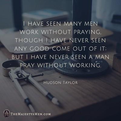 hudson taylor work prayer importance image quote