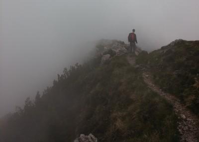 follow Jesus guy on trail image