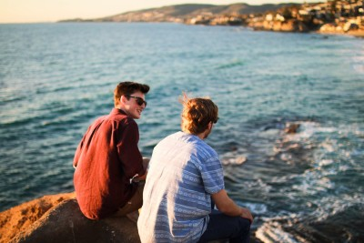 share your hope evangelization friends guys talking on beach image