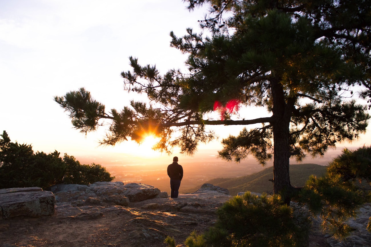 jesus overcome resurrection rallying cry man watching sunrise image